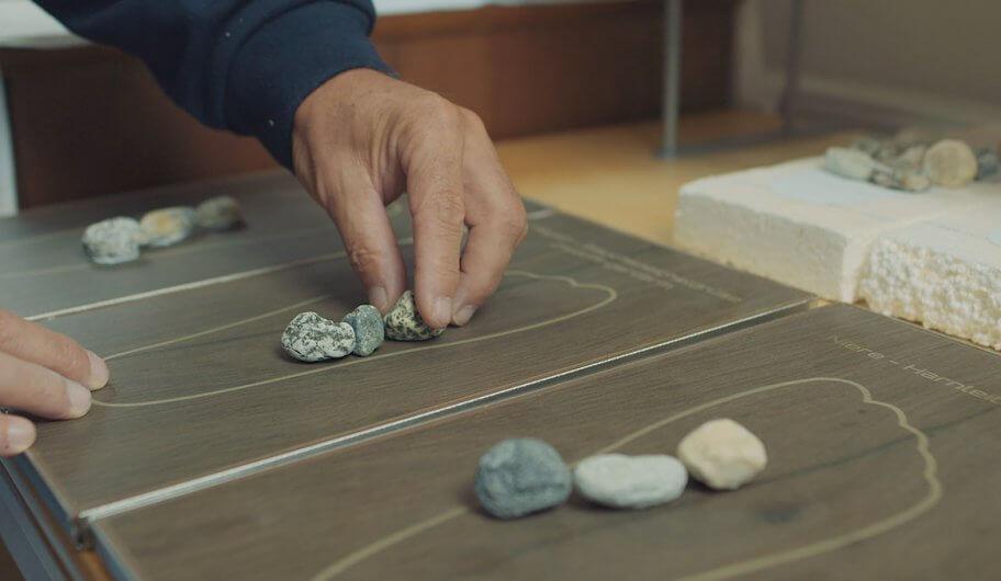 Positionierung Steine