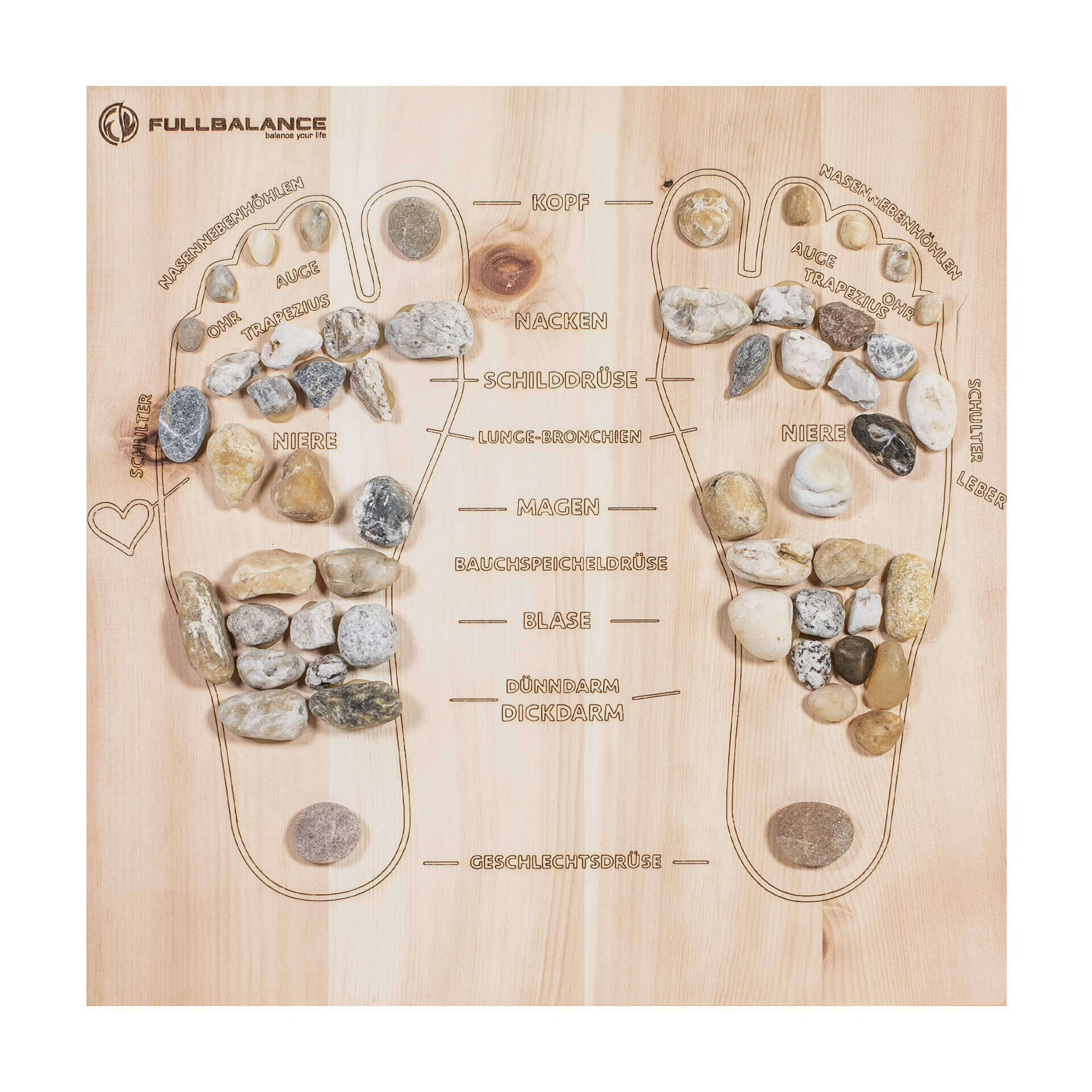 Pine & Stone Fußreflexzonenmassage Brett Maßanfertigung