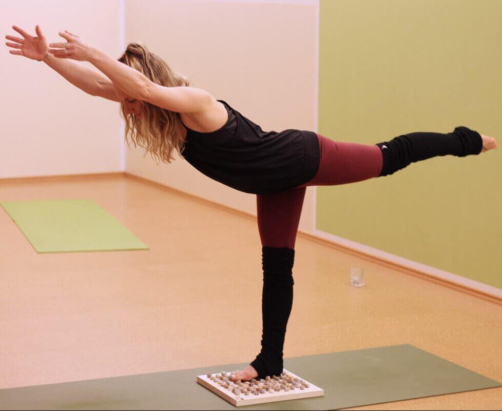 Yoga und Fußreflexzonenmassage