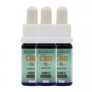 CBD Öl - 10% Vollspektrum mit MCT Öl, Vitamin B12 - 3er Set