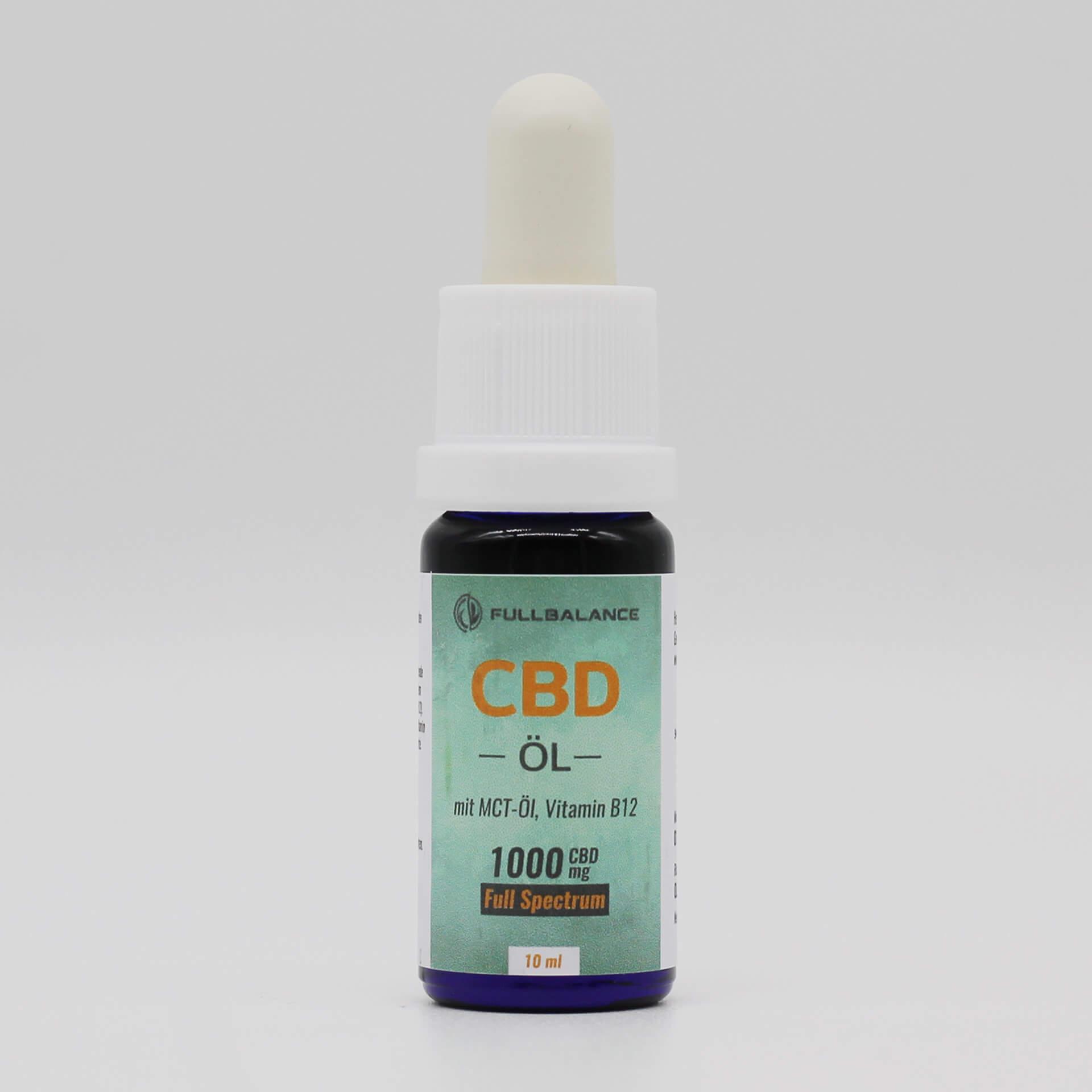10% CBD Öl Vollspektrum 1000mg Cannabidiol