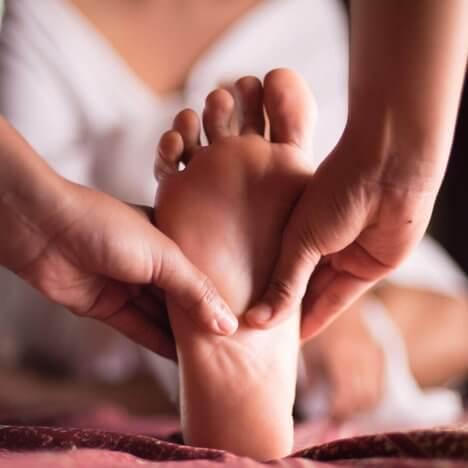 Fußreflexzonenmassage für zu Hause