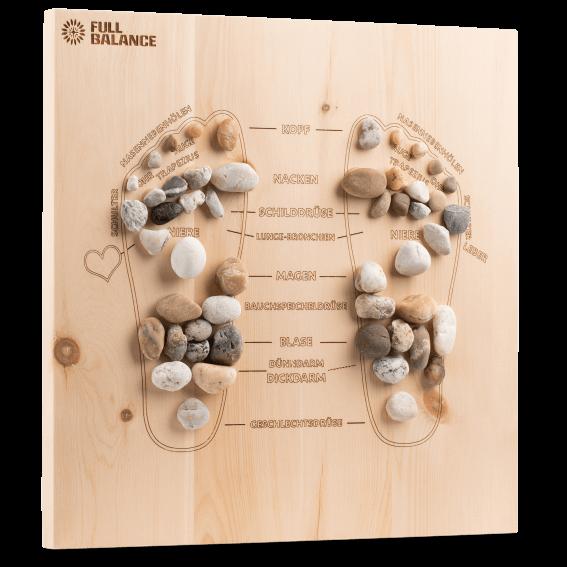 Fußreflexzonenmassage Brett Pine & Stone für zu Hause aus Zirbenholz