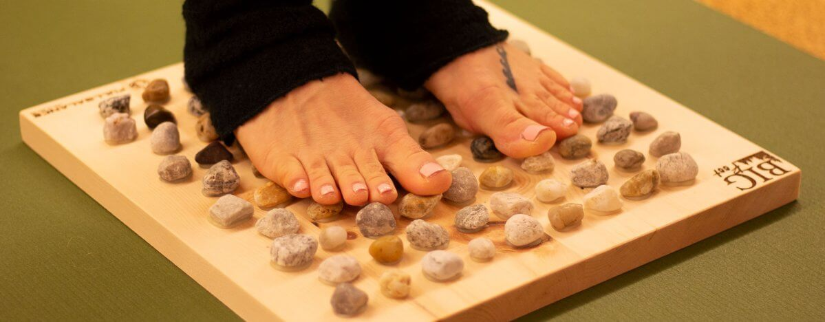 Fußreflexzonenmassage positive Wirkung zu Hause