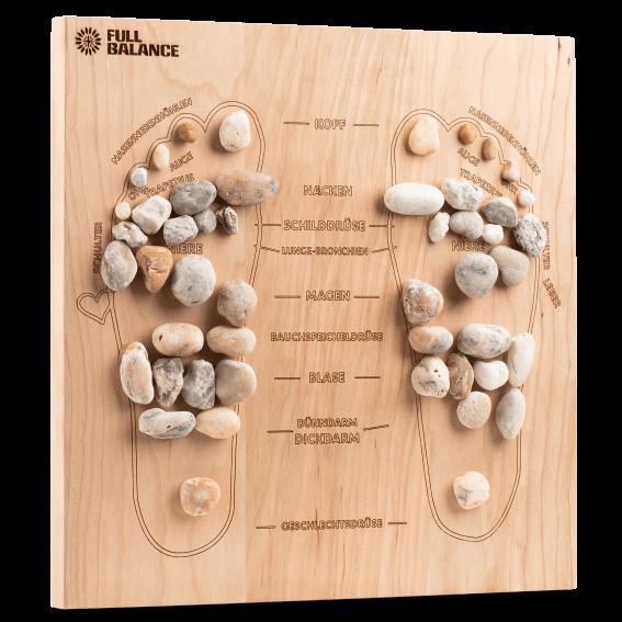Fußreflexzonenmassage Brett Pine & Stone Maßanfertigung für zu Hause aus Kirschholz