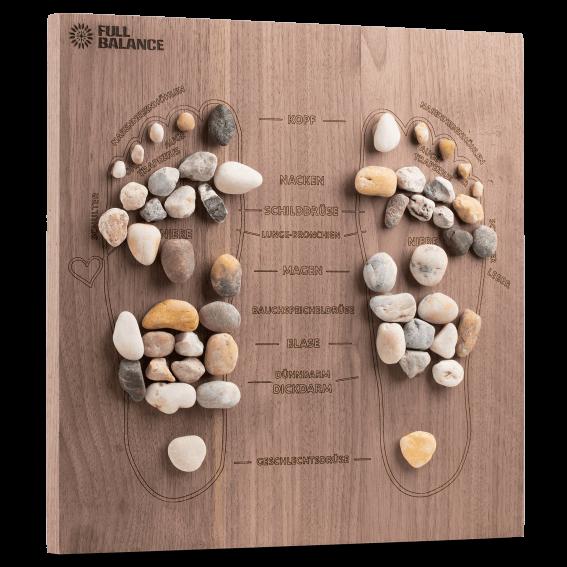 Fußreflexzonenmassage Brett Pine & Stone Maßanfertigung für zu Hause aus Nussholz