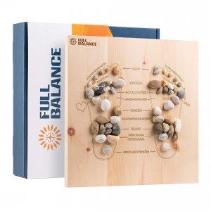 Fußreflexzonenmassage Brett Pine & Stone Maßanfertigung für zu Hause aus Zirbenholz