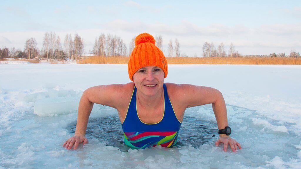Eisbad und Wechseldusche für Füße und Körper