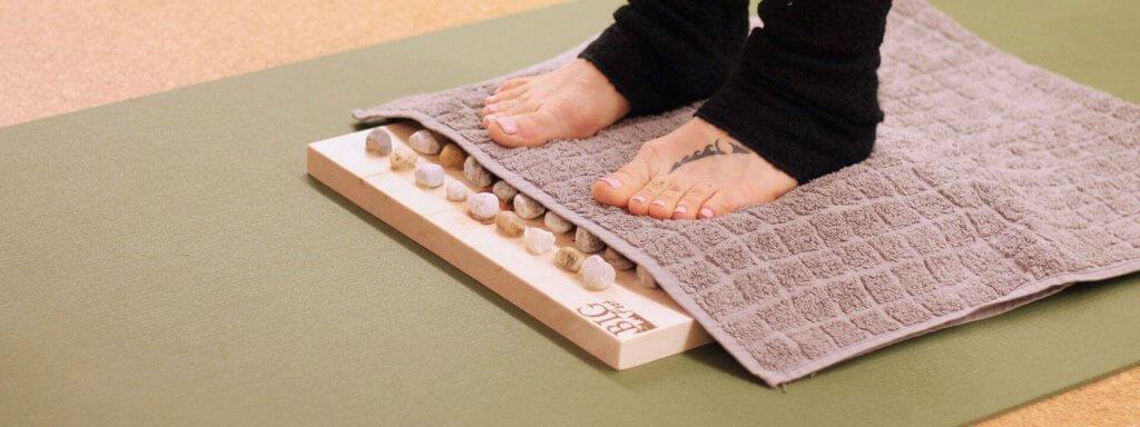 Fußreflexzonen Massage Behandlung gegen Verdauungsprobleme für zu Hause