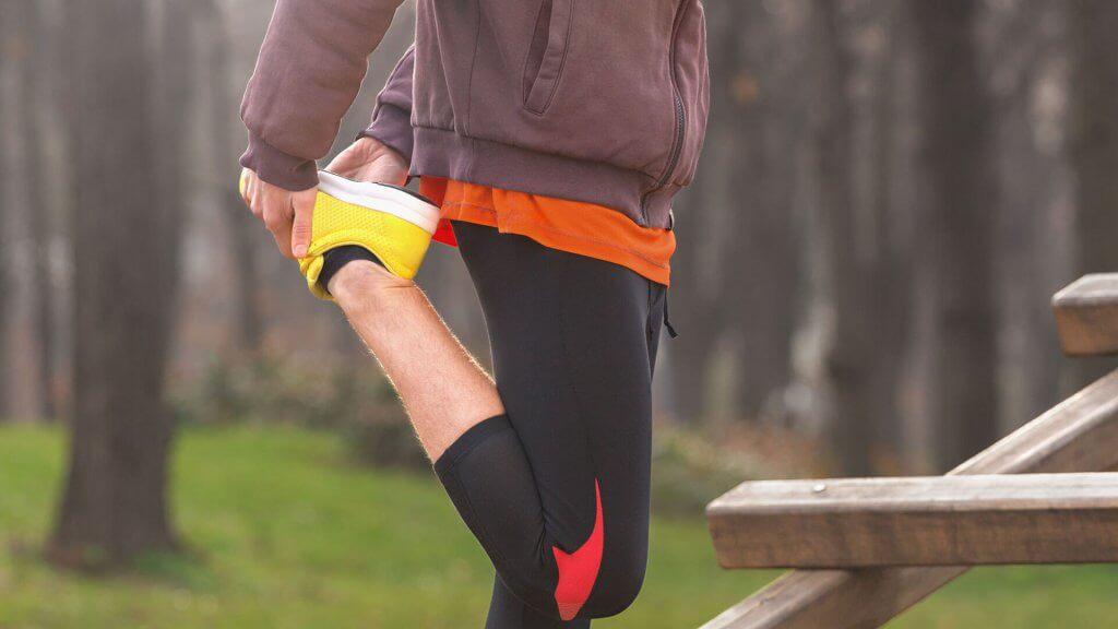 Dehnübungen Beine und des Oberschenkel nach dem Laufen